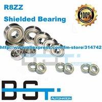 High Quality R8ZZ shielded bearing inch series 12.7 x28.575 x 7.94mm miniature shielded ball bearing
