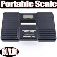 Free Shipping +High Quality Guaranteed New 1Pcs Black 150KG/0.1KG Digital Plastic Portable Personal Scale Wage 150X0.1KG 150 KG