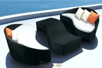Top Sale Fashion PE Rattan sofa combination-arc-shaped Sofa,YSF-N037,OEM