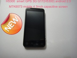 Free Shipping by DHL capacitive screen H5300 GPS 3G G17 android 2.3 MTK6573 mobile 4.3&#39;&#39; unlocked smart mobile phone 10pcs/lot(China (Mainland))