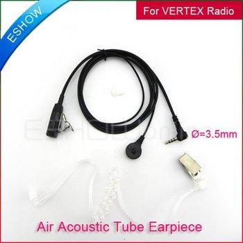 3.5mm Air Tube Headset for YAESU VX-5R/160 FT TSP ATS Walkie talkie two way CB Ham Radio C0019A Eshow