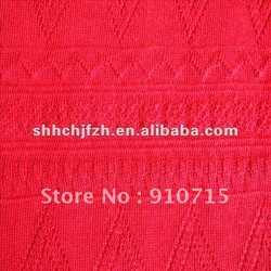 poly+wool spun poly jacquard interlock textile fabric(China (Mainland))