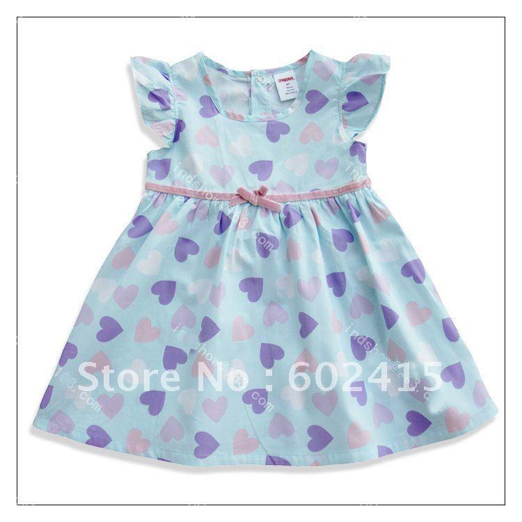 Cute Baby Girl in Blue Dress Baby Girls' Dresses Kids