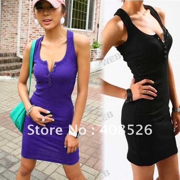 Женская мода пять пряжки strander хлопка жилет долго футболку спорта жесткая юбка стиль рукавов 4 цвета 3693