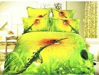 Hot Fashion New  Beautiful 100% Cotton 4pc Doona Duvet QUILT Cover Set bedding set Queen/  King size Beautiful ladybug
