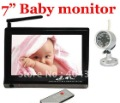 Wireless Baby Monitor with Night Vision 7 inch screen free shipping