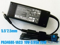 Free Shipping AC ADATPER Power Charger FOR Toshiba 19V 3.95A 75W PA3468E-1AC3 PA-1750-09