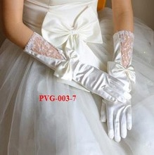 Free Shipping Full-Long Lace Bridal Gloves  Wedding Gloves Formal Gloves Party Gloves 30cm  White/Beige /PVG-003-7(China (Mainland))