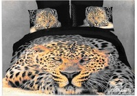 Hot Fashion New  Beautiful 100% Cotton 4pc Doona Duvet QUILT Cover Set bedding set Queen/  King size ep leopard