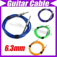 """10ft 3M Foot instrument 6.3mm Mono 1/4"""" Electric Audio Guitar AMP Microphone PA/Mic Cable Lead Cord #2914"""