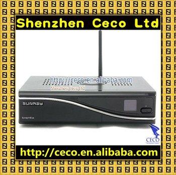 New DVB 800 SE Sunray 800 se SR4 support wifi 800 hd se D6 3 tuner in 1 HD Linux OS Sunray 800 hd se satellite recevier