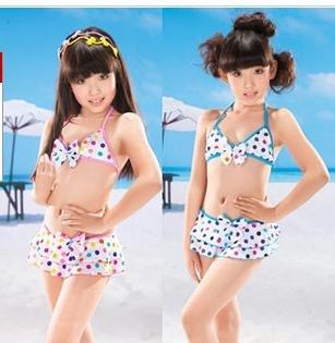 bikini children font bathing