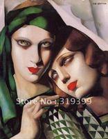 Oil Painting Reproduction,The Green Turban byTamara De Lempicka ,Free Ship by DHL/FEDEX,100% Save Guarantee (TDL007)