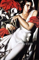 Oil Painting Reproduction,Portrait of Ira P. by Tamara De Lempicka ,Free Ship by DHL/FEDEX,100% handmade (TDL016)