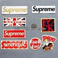 supreme collection sticker 20pcs/lot free ship diy laptop sticker