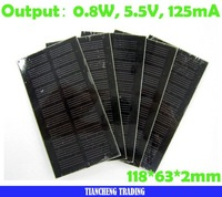 Free shipping! wholesale 20pcs/lot Laminate solar cells for DIY & test, 0.8 Watt 5.5V, Solar energy panels