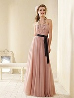 B2592 Sweetheart Strapless A-Line Ribbon Floor-Length Bridesmaid Dresses Wholesale  Fast Time New Arrival