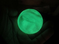 160g Green Glow Man-made Glow In The Dark Stone Ball Sphere Ball China T002