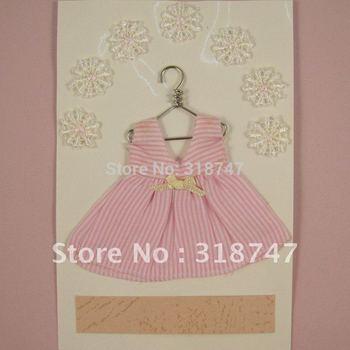Free shipping wholesale dress design scrapbooking sticker for card decoration(2pcs/lot) 048001(1)