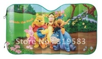 Winnie Familie green Cartoon car windows, windshield shade solar protection in summer to cool the adiabatic mixed wholesale