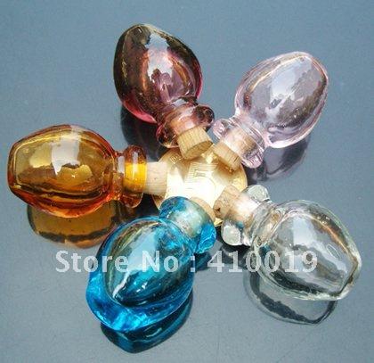 Murano Glass Essential Oil Vial Vase (18X27MM,0.5ML) murano glass perfume bottle pendant(China (Mainland))