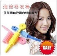 Free Shipping Hair Care Roller Sponge Hair Roll Curl Sponge Hair Roller Curler  (3 in 1 pack) 60pcs/lot BY-039