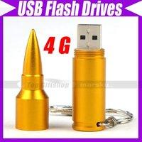 Free shipping/USB 2.0 4G Metal Bullet Flash Drive Memory Disk Stick Mass Storage #2572