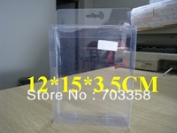 PVC packing box/clear packing box/50pcs 12X15X3.5cm
