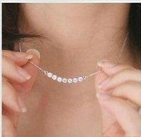 Fashion Simply Cute Silver-Plated Bijou Rhinestone Short Necklace D3R15