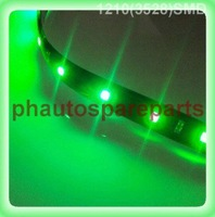Free Shipping  green 1210 3528 SMD waterproof flexible led strip 30cm 15 SMD LED strip green color 12V