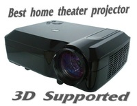 LCD projector 5.8'' Innolux LCD panel 120W led lamp 2500lumens 720p,1080p 3d support HD projector,HOT!! Free Shiping!!!