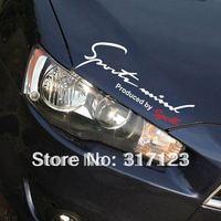 Free Shipping (50PCS/LOT) Sports Mind Black Car Headlight Taillight Eyebrow Decal Sticker Vinyl