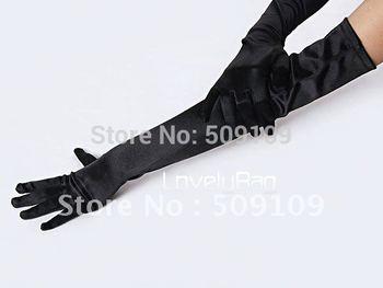 Black Gloves Elbow Wedding Apparel Accessories Bridal Accessories