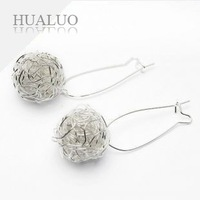 Серьги висячие Shamballa Earring Sparkling Rhinestone Ball Earrings E30