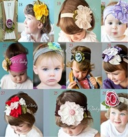 New  wholesale design  50pcs/lot Cute Baby flower headwear infant cotton hair band/Baby cotton head scarf/headband/headdress