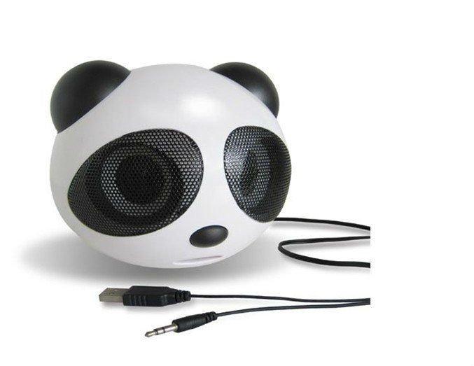 1 Piece Free Shipping New Portable Speaker Fashion Panda Speaker Mini Speaker for Mp3 Mp4 PC PSP Loudspeaker(China (Mainland))