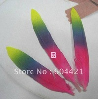 FREE SHIPPING 100pcs/lot dyed beautiful printed Feathers Wing Plume for Wedding Centerpiece Decoration,diy accessories