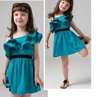 freeshipping 2012 new arrival dress fashion,girl dress Korea,dresses for kids,5pcs/lot,age:2-7years,wholesale