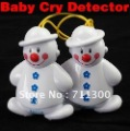 NEW Snowman Wholesale Lovely Wireless Baby Cry Detector Monitor Watcher Alarm Free Shpping+Retail Box