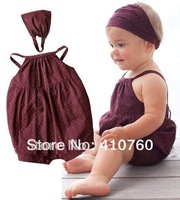 wholesale 100% cotton infant kids rompers with hat Baby Wear boy's girl's rompers children apparel