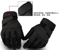 motorcycle Tactical gloves and full finger black Gloves size M-L-XL New