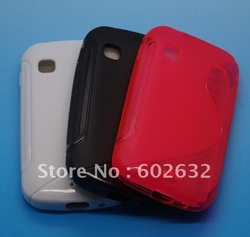 1pcs free shiping S Line TPU Silicone Gel case for Samsung Galaxy Gio S5660(China (Mainland))