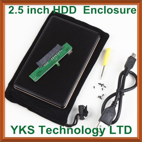 "Free shiping! 5pcs/lot New generic 2.5"" USB 2.0 SATA Hard Disk Drive HDD Case Enclosure--AC507"