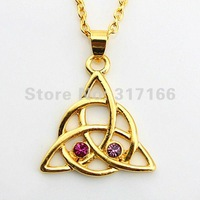 Free Shipping Gold Plated Symbol Pendant Necklace (BCSMT0135)