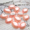 Free Shipping! 1000pcs/bag 13*18mm pink  ABS Half Round Pearls Flatback Jewelry Beads Scrapbooking Cellphone Decor,DIY beads