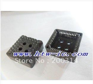 5pcs,PLCC 44 PLCC44 Through Hole Mount IC Socket & Free Shipping