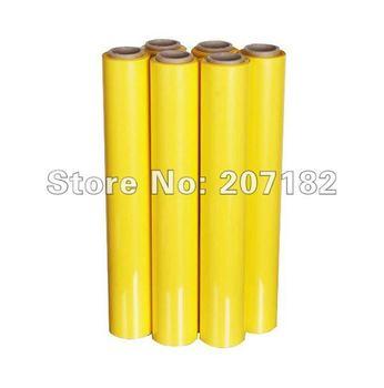 Free Shipping 0.5*10m Yellow PU Vinyl Transfer Film,Cutting Plotter Film, Heat Transfer Film,Transfer Film