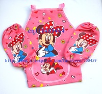 Wholesale- New 24 Set Children Minnie  Aprons Sleeves Set  Free Shipping