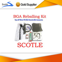 BGA Reballing Kit 15pcs 80*80mm PS3 BGA Reballing Stencils+BGA Reballing Station+BGA Accessories