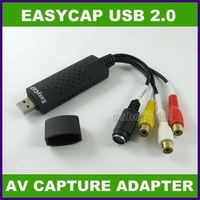 Promotion Sale!!! 2012 New High Quality  1Pcs USB 2.0 TV DVD Audio Video S-video AV EasyCap Adapter+Wholesale +FreeShipping